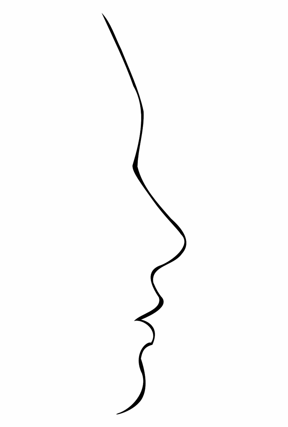 920x1361 Face Head Profile Silhouette Png Image