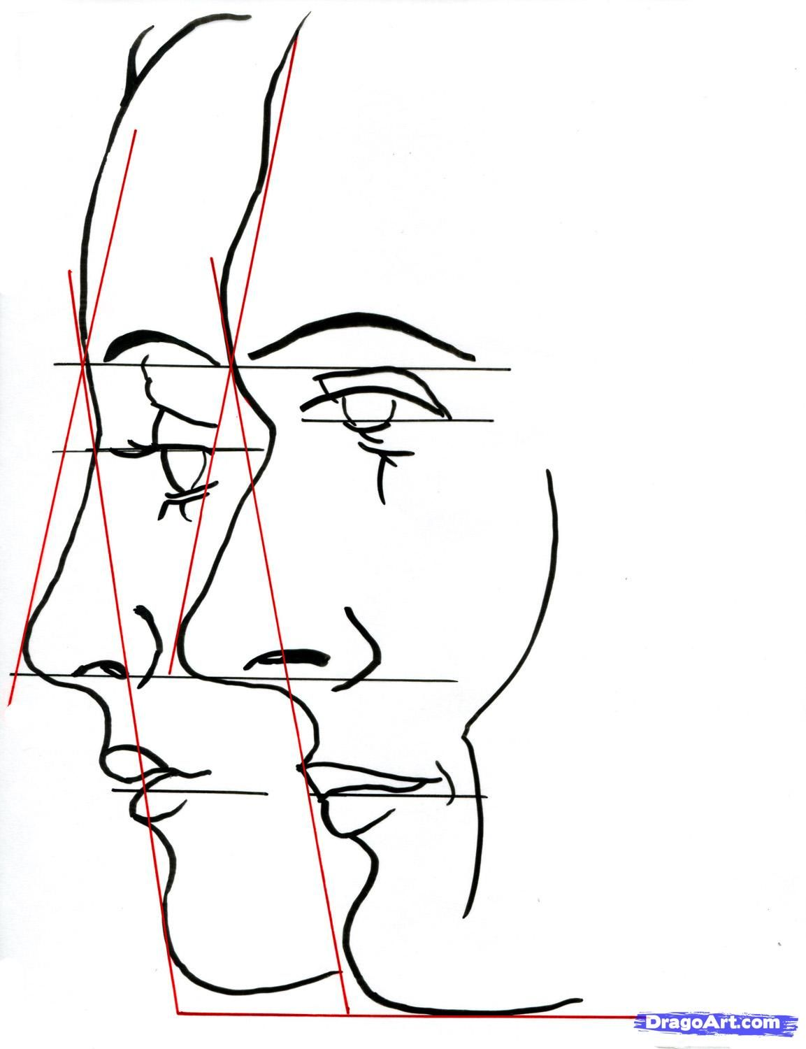 1153x1500 How To Draw A Face Profile Faces To Draw Draw, Drawing