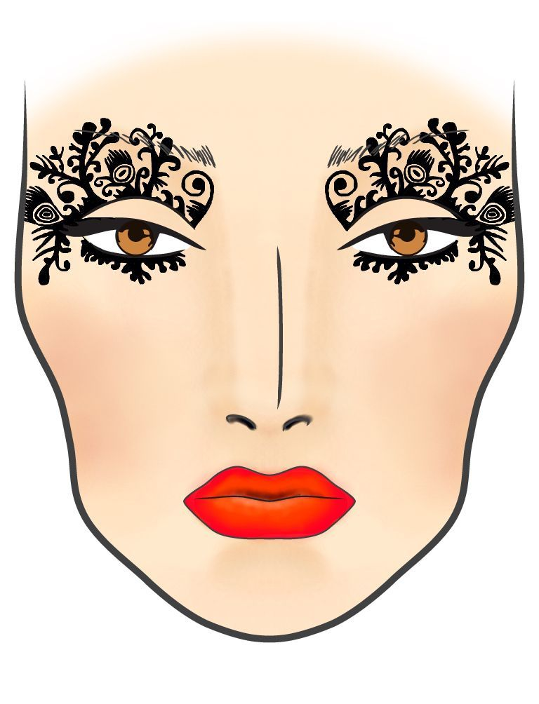 768x1004 mask makeup charts, makeup face