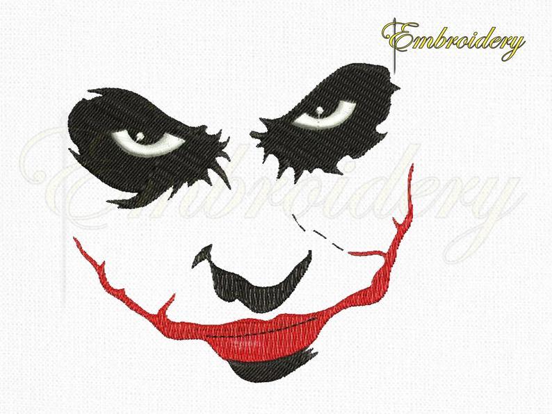 794x596 Batman Joker Face Machine Embroidery Design Marvel Joker Etsy