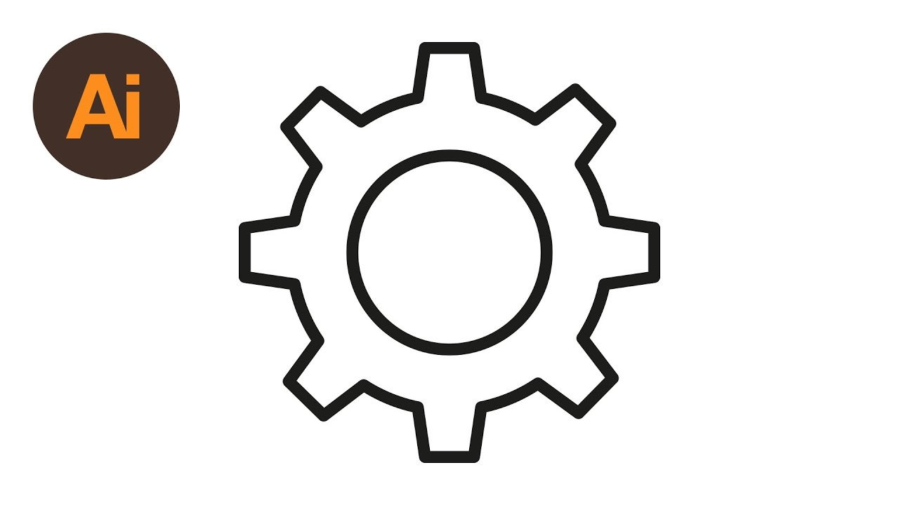 1280x720 learn how to draw a cog settings icon in adobe illustrator