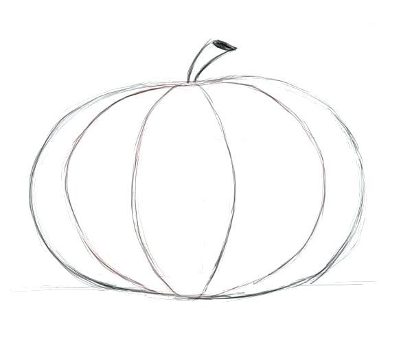 600x500 how to draw a pumpkin how to draw a pumpkin draw pumpkin leaves