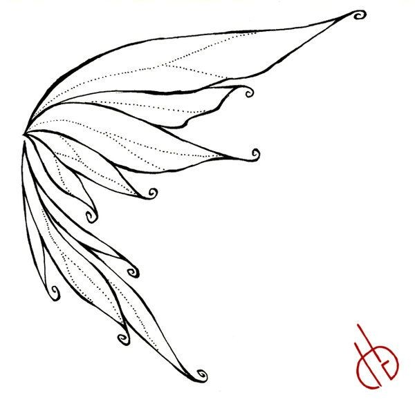 600x585 fairy wings drawing fairy drawings how to draw fairy wings