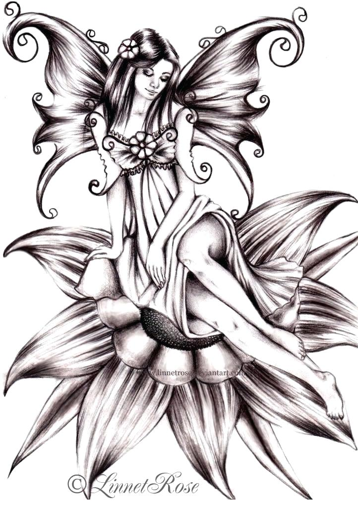 722x1024 fairy drawing image titled draw a fairy step fairy house drawing