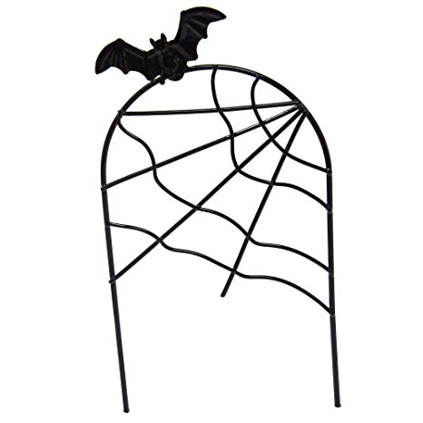 466x466 Spider Fence With Bat For Miniature Garden, Fairy