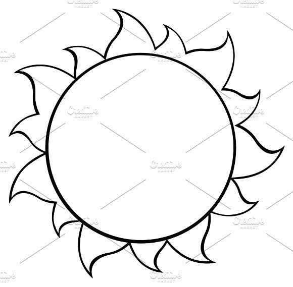 580x569 Black And White Simple Sun
