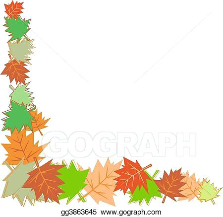 450x437 fall leaves drawing fall leaves border autumn leaves drawing easy