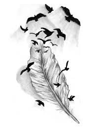 189x267 Image Result For Falling Feathers Drawing Tattoo Feather