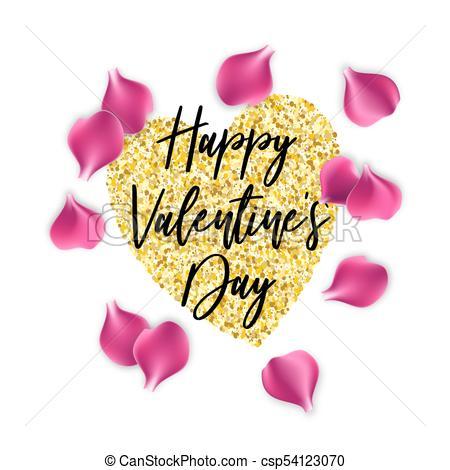 450x470 Rose Petals Happy Valentines Day Background Valentine Poster