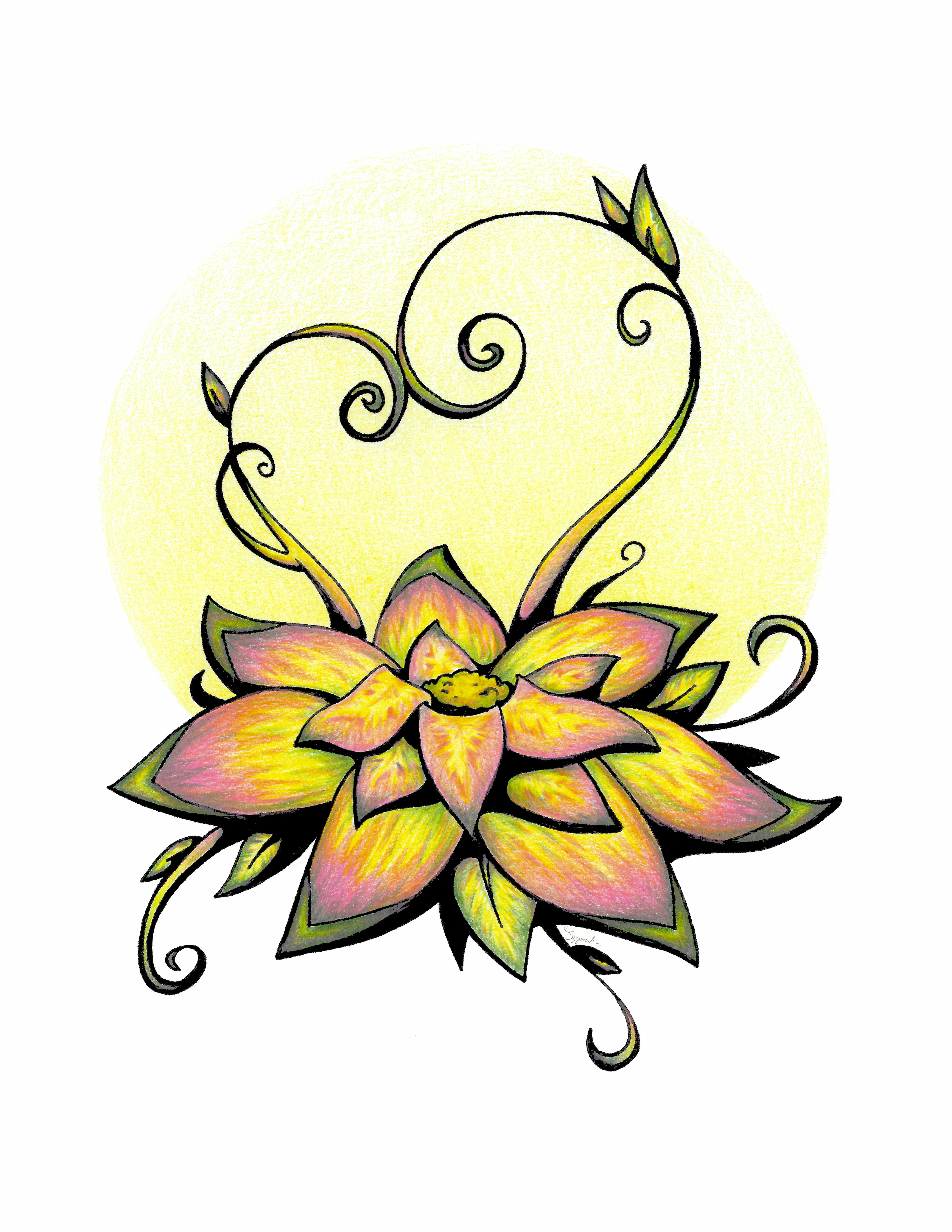 5100x6600 Vibrant Flower Flower Drawings, Pink Flowers, Floral Wall Art