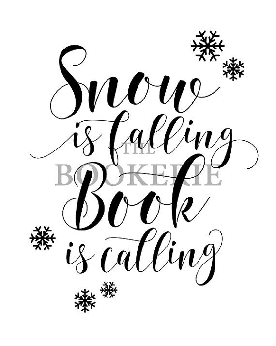 570x713 Snow Is Falling Book Is Calling Christmas Printable Reading