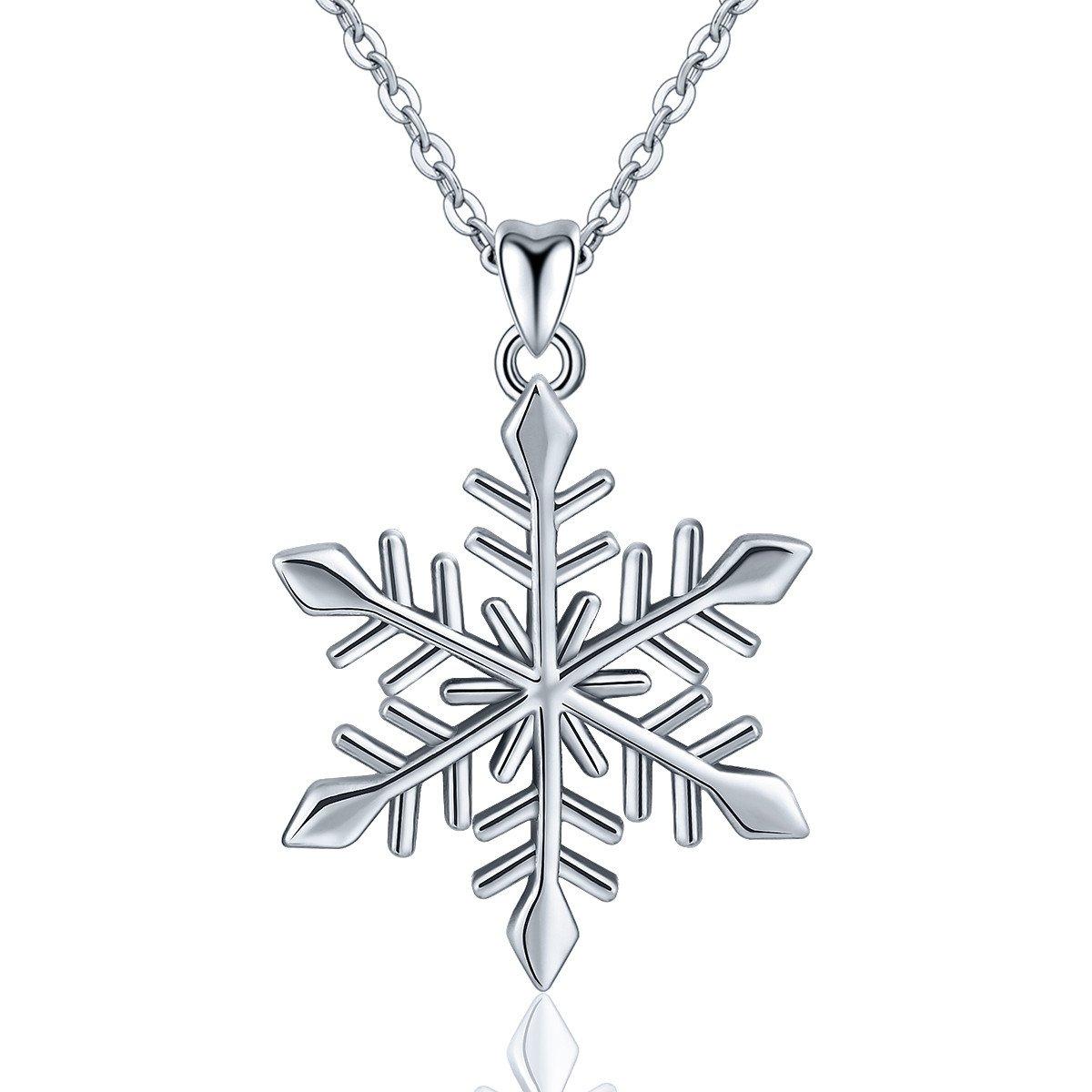 1200x1200 Eudora Sterling Silver Snowflake Pendant Necklace