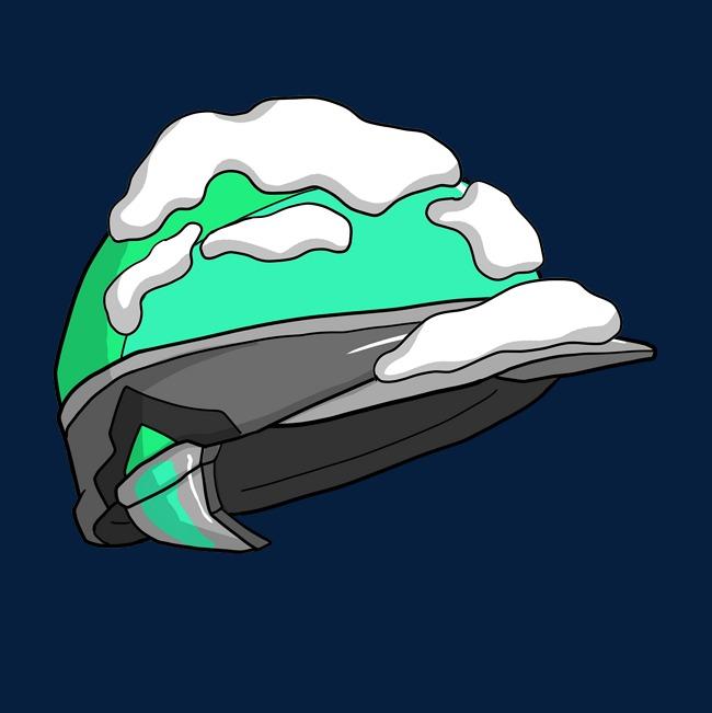 650x651 Blue Falling Snow Hat Illustration Image