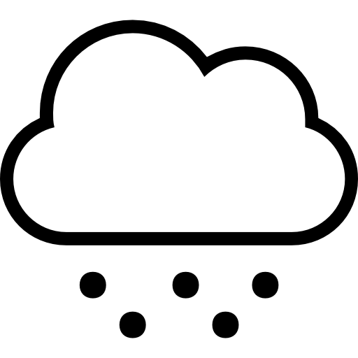 512x512 Cold Weather Symbol Of Cloud Stroke And Hail Or Snow Dots Falling