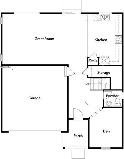 420x535 plan new home floor plan in falling water