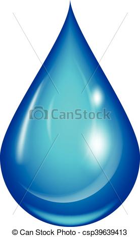 277x470 water drop vector illustration clean water drop isolated on white