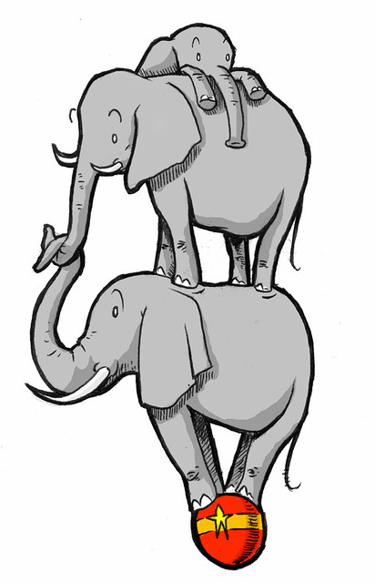 412x640 adorable elephant family drawing aiming to represent