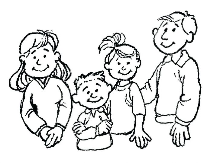728x540 Family Holiday Picnic Coloring Pages For Kids Online Halloween