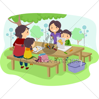 325x325 Family Picnic Gl Stock Images