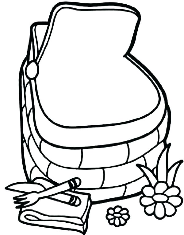 600x763 Picnic Coloring Pages This Little Piggy Colouring And Ms