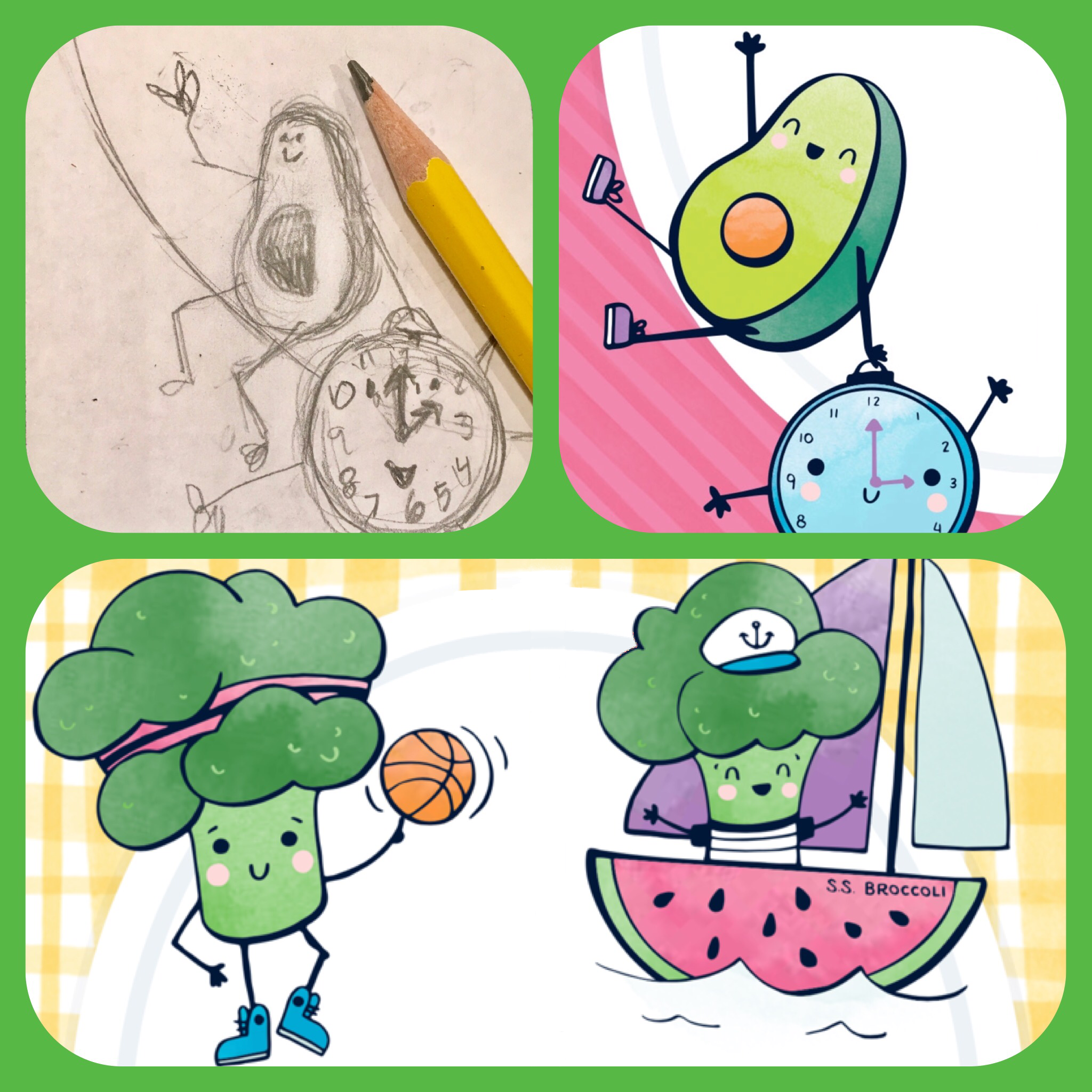 2048x2048 Picnic Party! Game Design For Fun With Healthy Food Characters