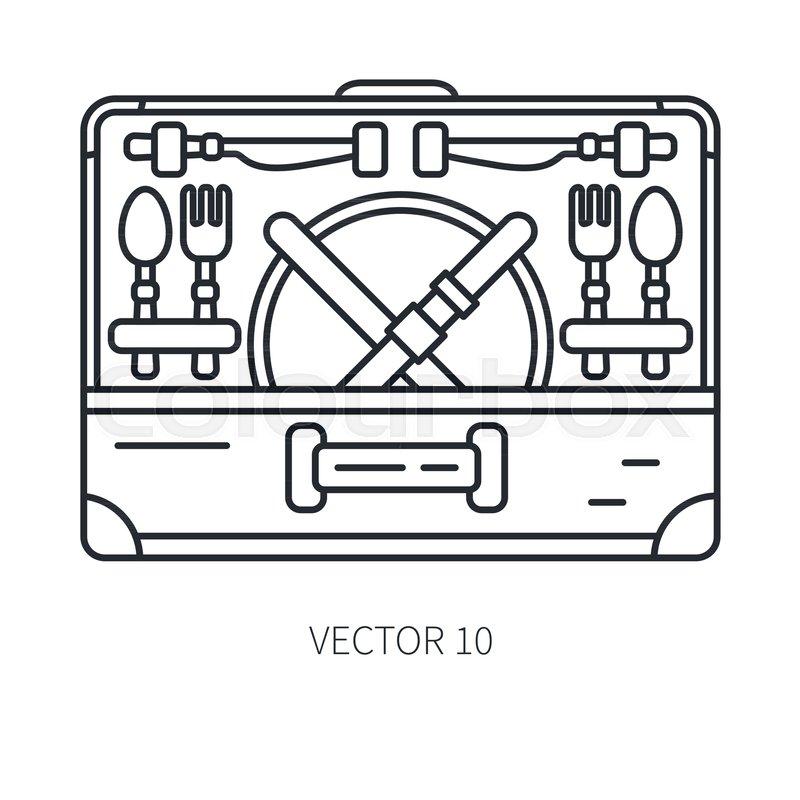 800x800 Retro Convertible Furniture, Compact Stock Vector Colourbox