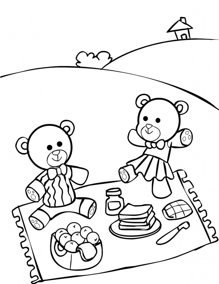 736x952 Picnic Drawing Animated Family For Free Download