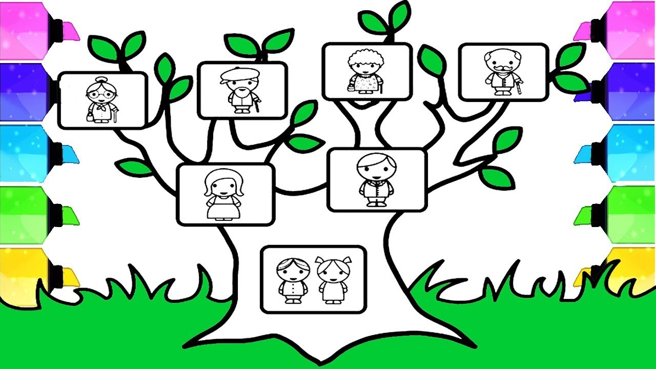 1280x720 Family Tree Drawing How To Draw Family Tree Step