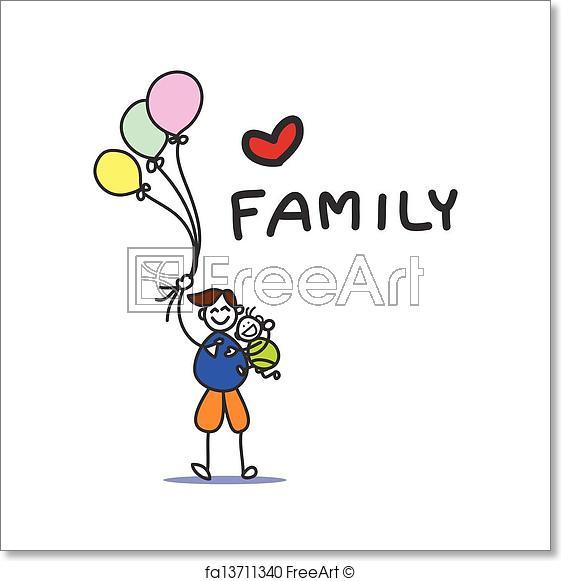 561x581 Free Art Print Of Hand Drawing Cartoon Happy Family Hand Drawing