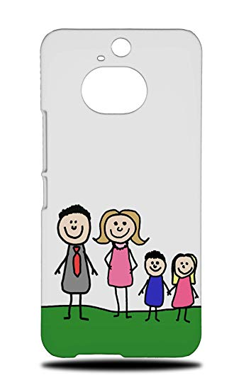 330x550 Cute Family Sketch Drawing Art Hard Phone Case Cover