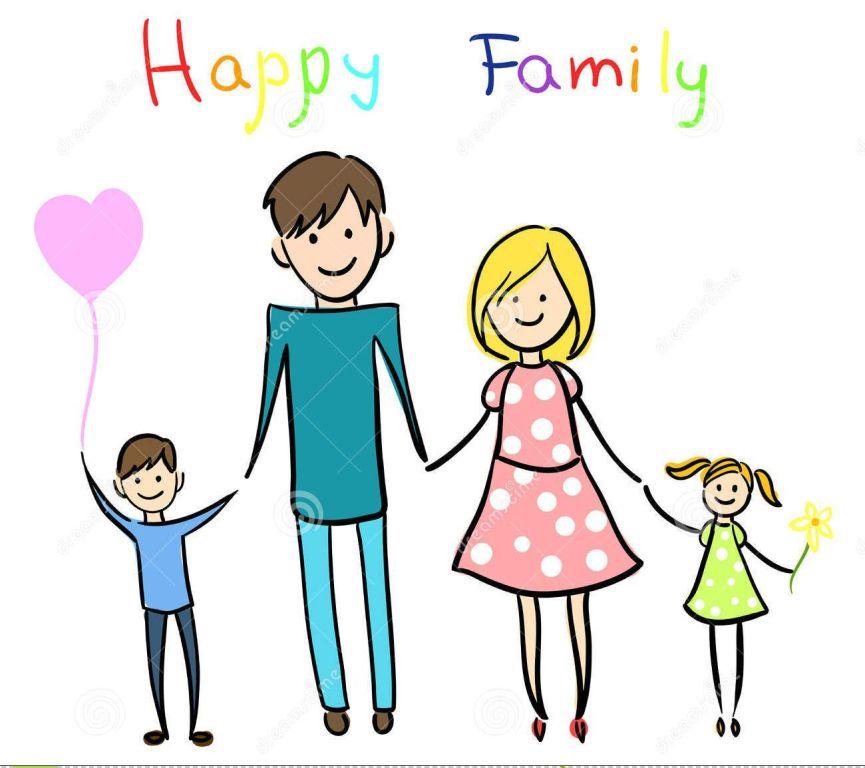 865x768 My Cartoon Family Drawing Share On Facebook Imagefully
