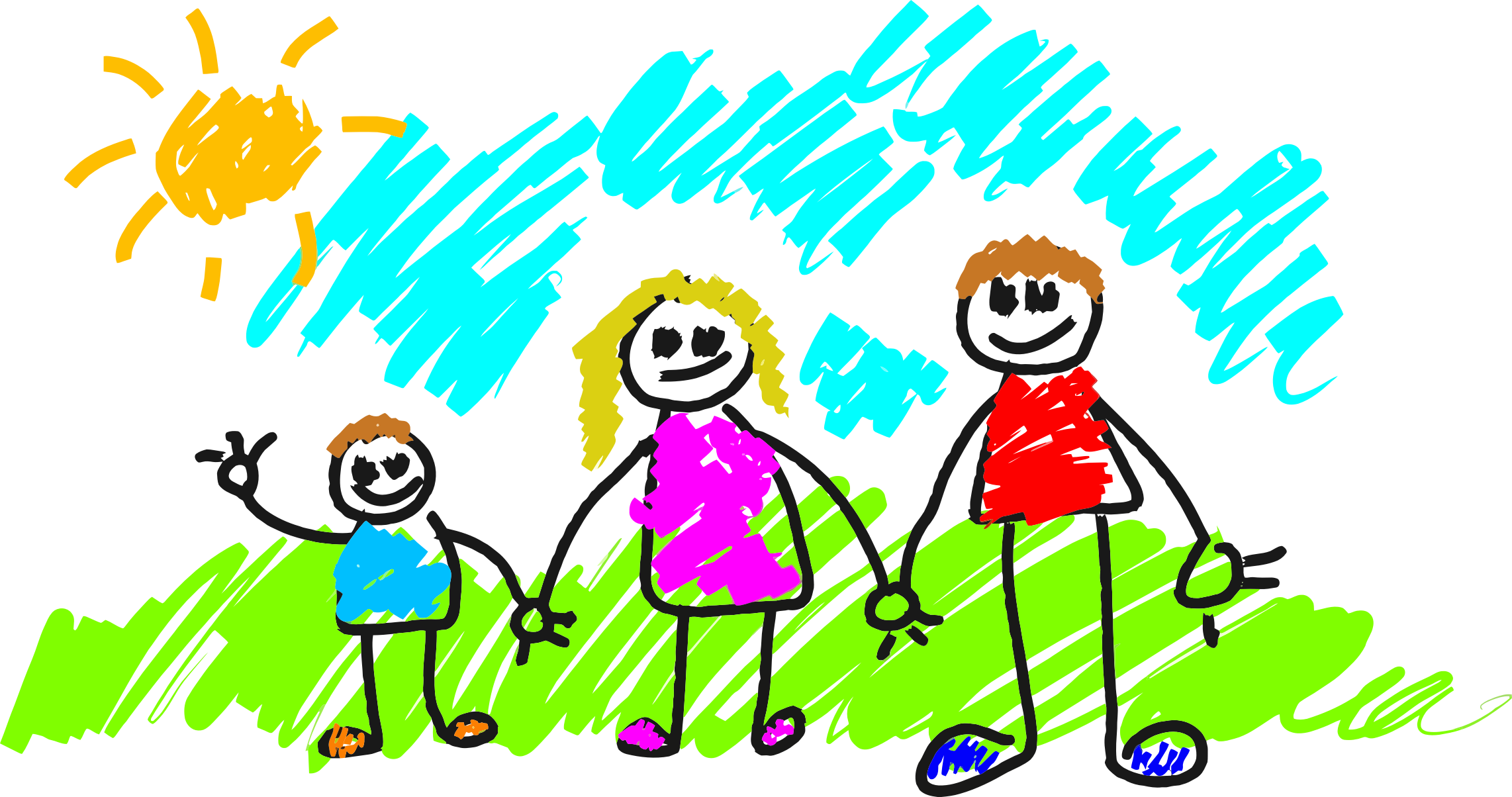 2284x1204 Collection Of Free Drawing Kids Family Download On Ui Ex
