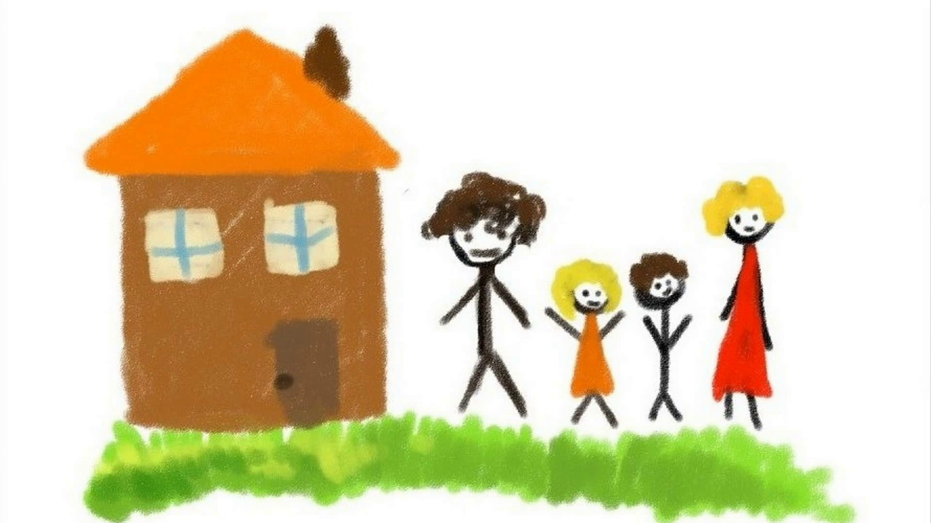 1920x1080 Digital Drawing Of A Family Shooting Of Timelapse Motion