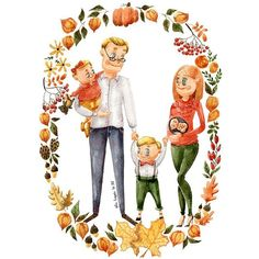 236x236 family cartoon portrait portrait from photo family drawing