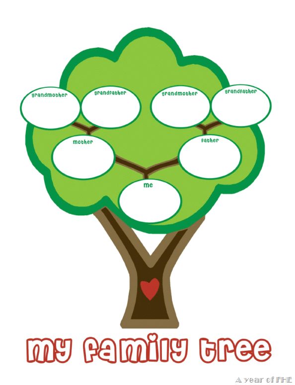 594x776 preschool family tree template family tree template preschool