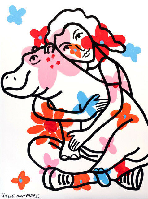 478x640 gillie and marc direct from artists authentic art print 'hippo