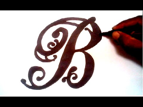 480x360 Drawing A Fancy Letter B