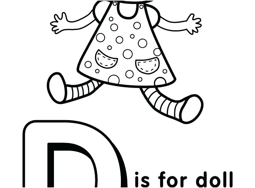827x609 Fancy Letter Coloring Pages Free With Letters D B Col Toddler
