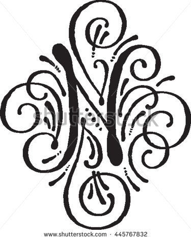 375x470 N Letter Design Letters Font For Fancy Letter N Designs