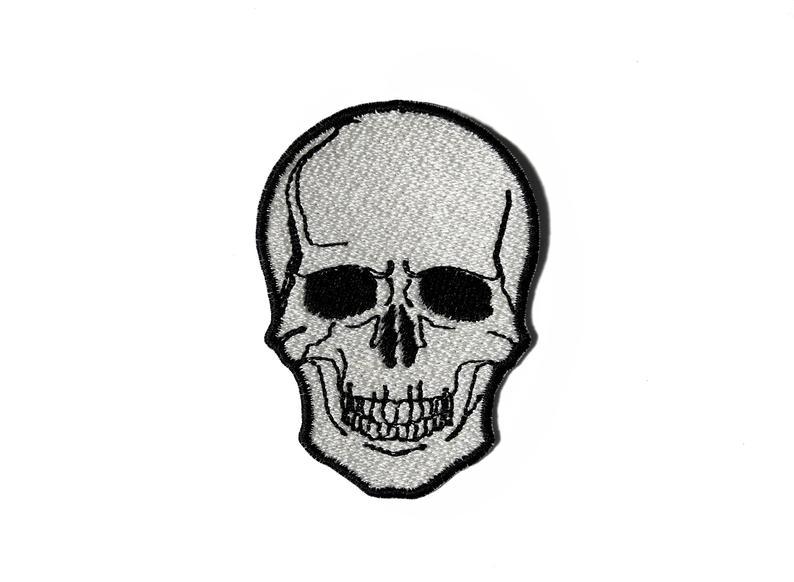794x582 skull patch scary halloween patch sew on patch naszywka etsy