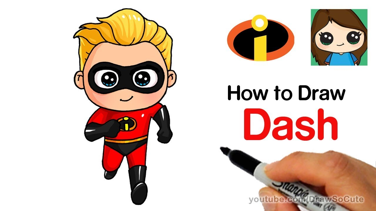 1280x720 How To Draw Dash Easy The Incredibles