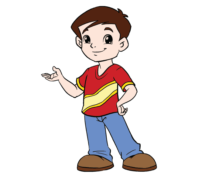 678x600 How To Draw A Boy In A Few Easy Steps Easy Drawing Guides