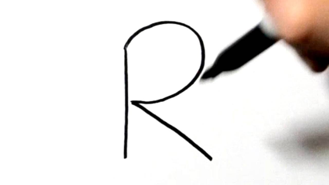 1280x720 How To Draw A Rabbit After Writing Letter R