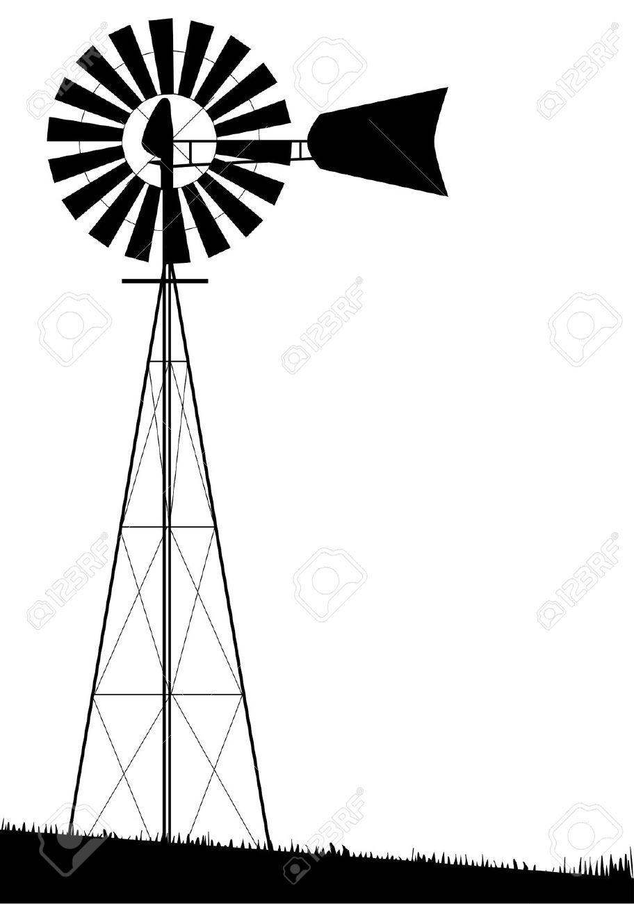 Farm Windmill Drawing