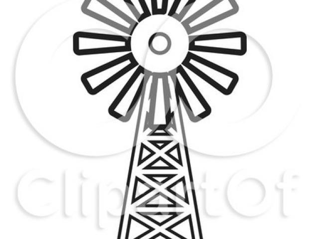 640x480 Drawn Windmill Clipart Farm
