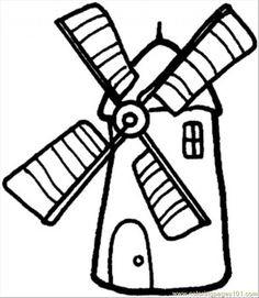 236x271 Farm Windmill Coloring