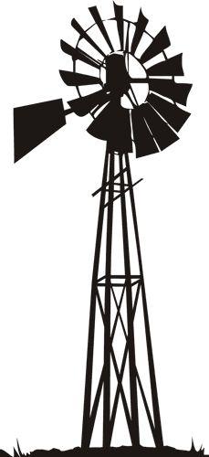 229x500 Farm Windmill Clipart