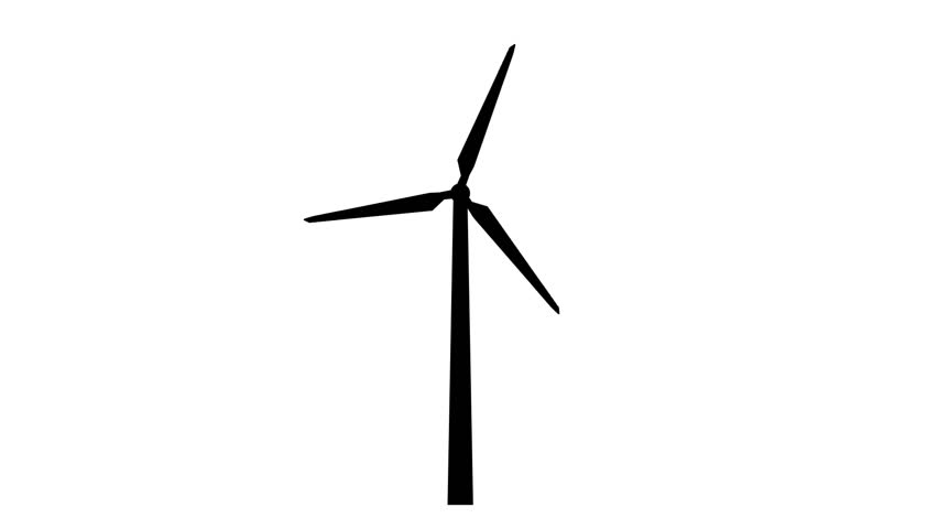852x480 Natural Resource Animation Windmill Stock Stock Footage Video