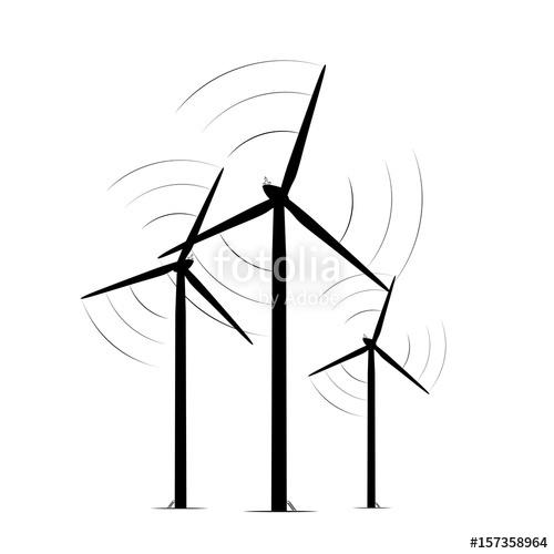 500x500 Onshore Wind Turbine Towers Renewable Energy Farm Rotating Blades
