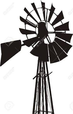 306x481 Farm Windmill Drawing